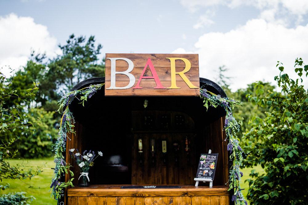 Outdoor Bar Secret Garden Wedding James Powell Photography