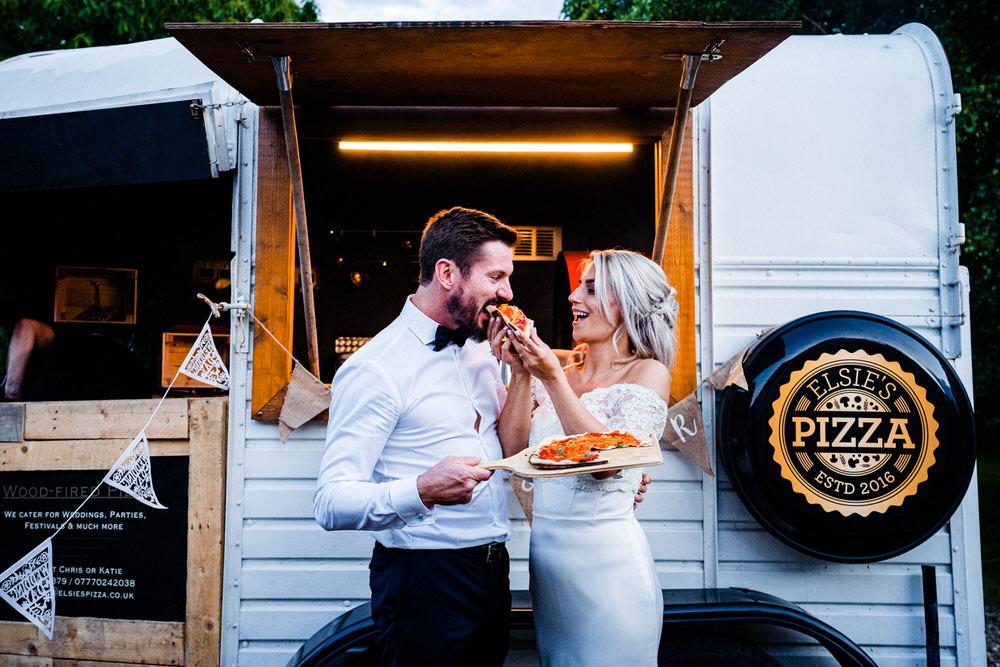Pizza Van Food Truck Secret Garden Wedding James Powell Photography