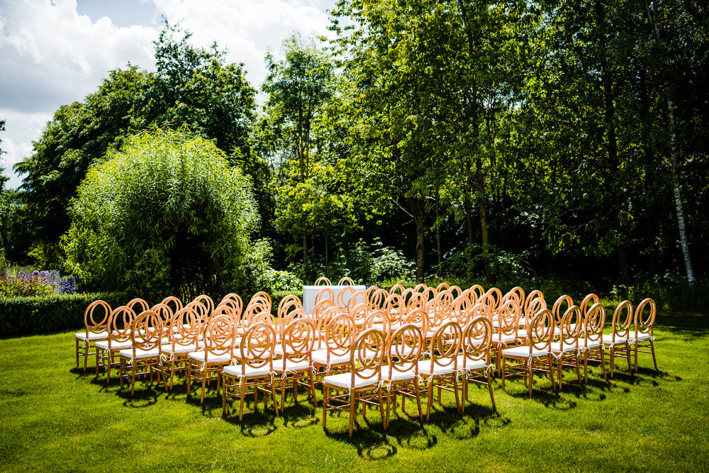 Outdoor Ceremony Secret Garden Wedding James Powell Photography