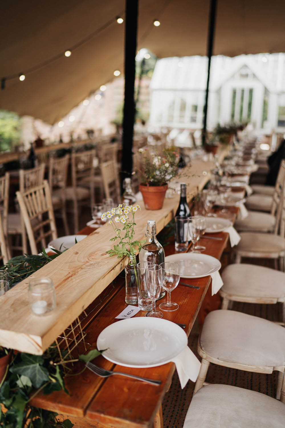 Long Wooden Tables Gold Greenery Planks Wood Timber Serving Platform Sharing Platter Grazing Pot Plants Tipi Garden Wedding Kit Myers Photography