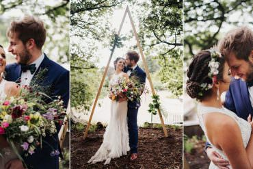 Whimsical Tipi Garden Wedding Held During a Storm