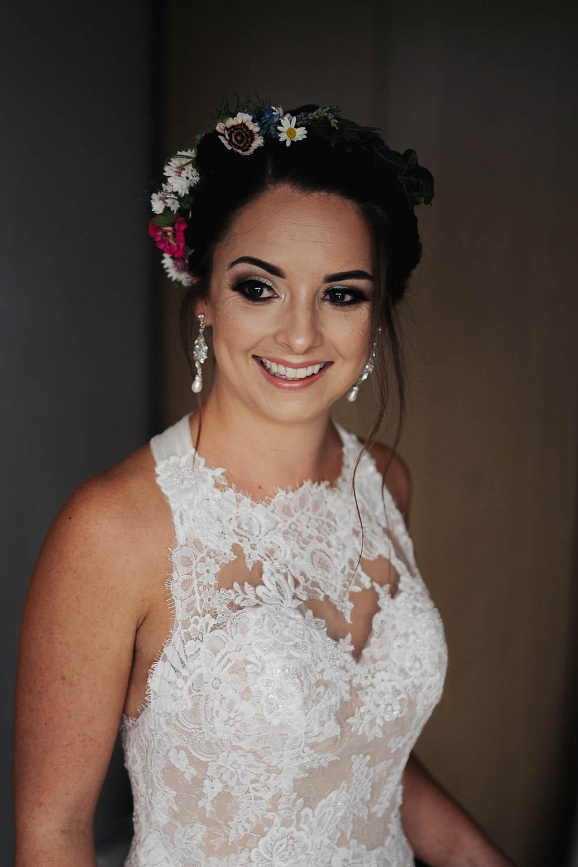 Bride Bridal Flower Crown Make Up Tipi Garden Wedding Kit Myers Photography