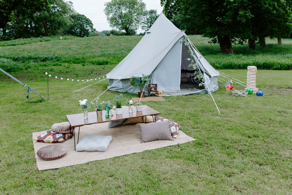 Mini Tipi Chillout Low Seating Tipis Riley Green Wedding Jessica Isherwood Photography