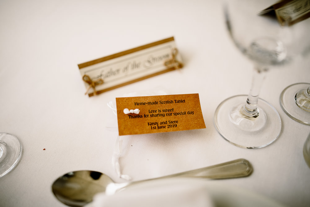 Favour Sweets Scottish Tablet Yorkshire Barn Wedding Hayley Baxter Photography