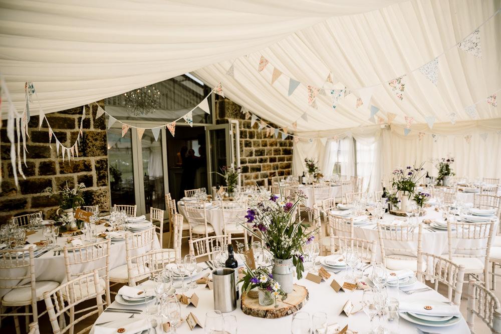Bunting Yorkshire Barn Wedding Hayley Baxter Photography