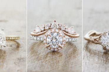 Utterly Stylish Lab Grown Diamond Engagement & Wedding Rings