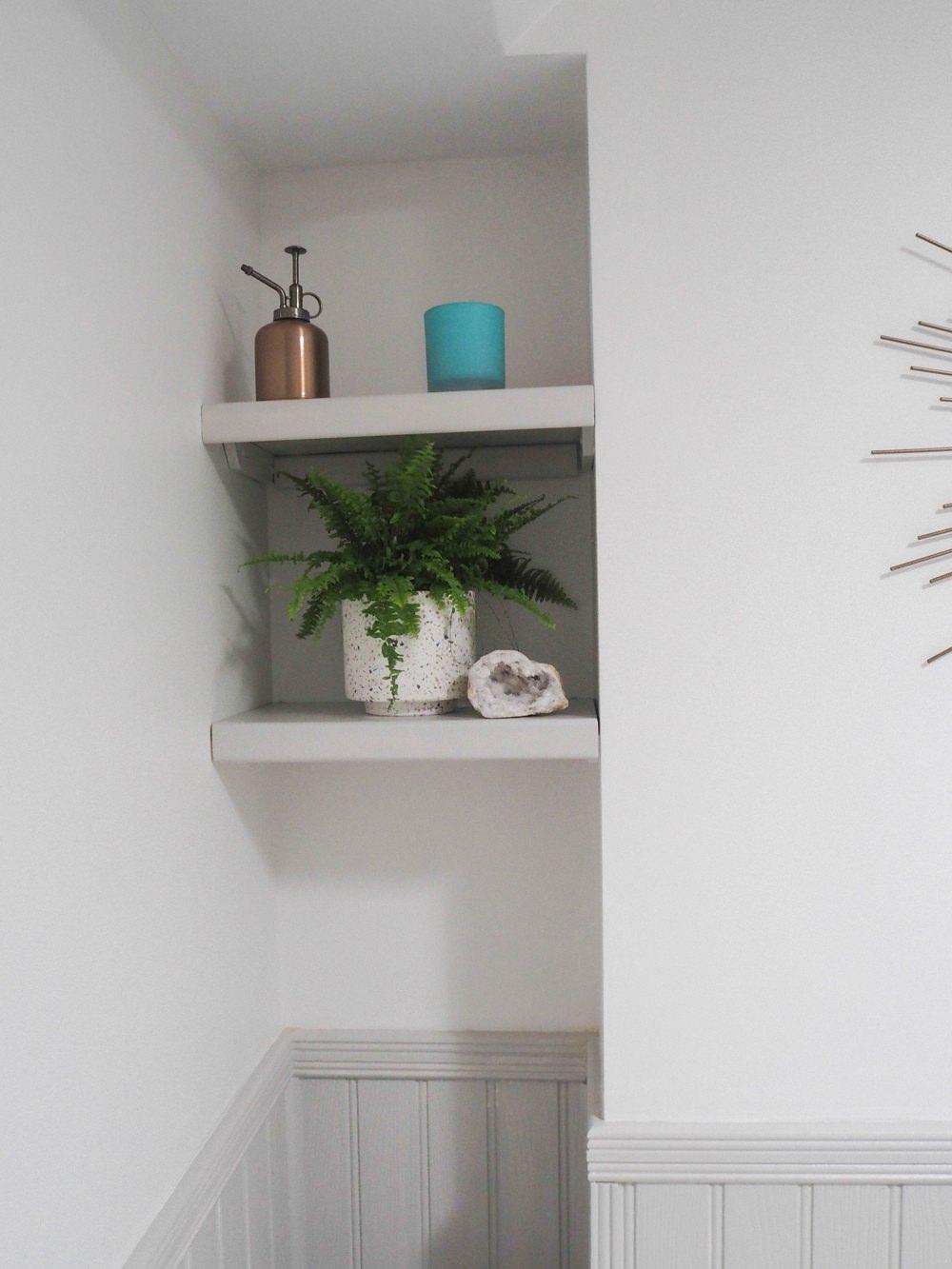 Bathroom Renovation Alcove Shelves Shelving Pot Plant Accessories