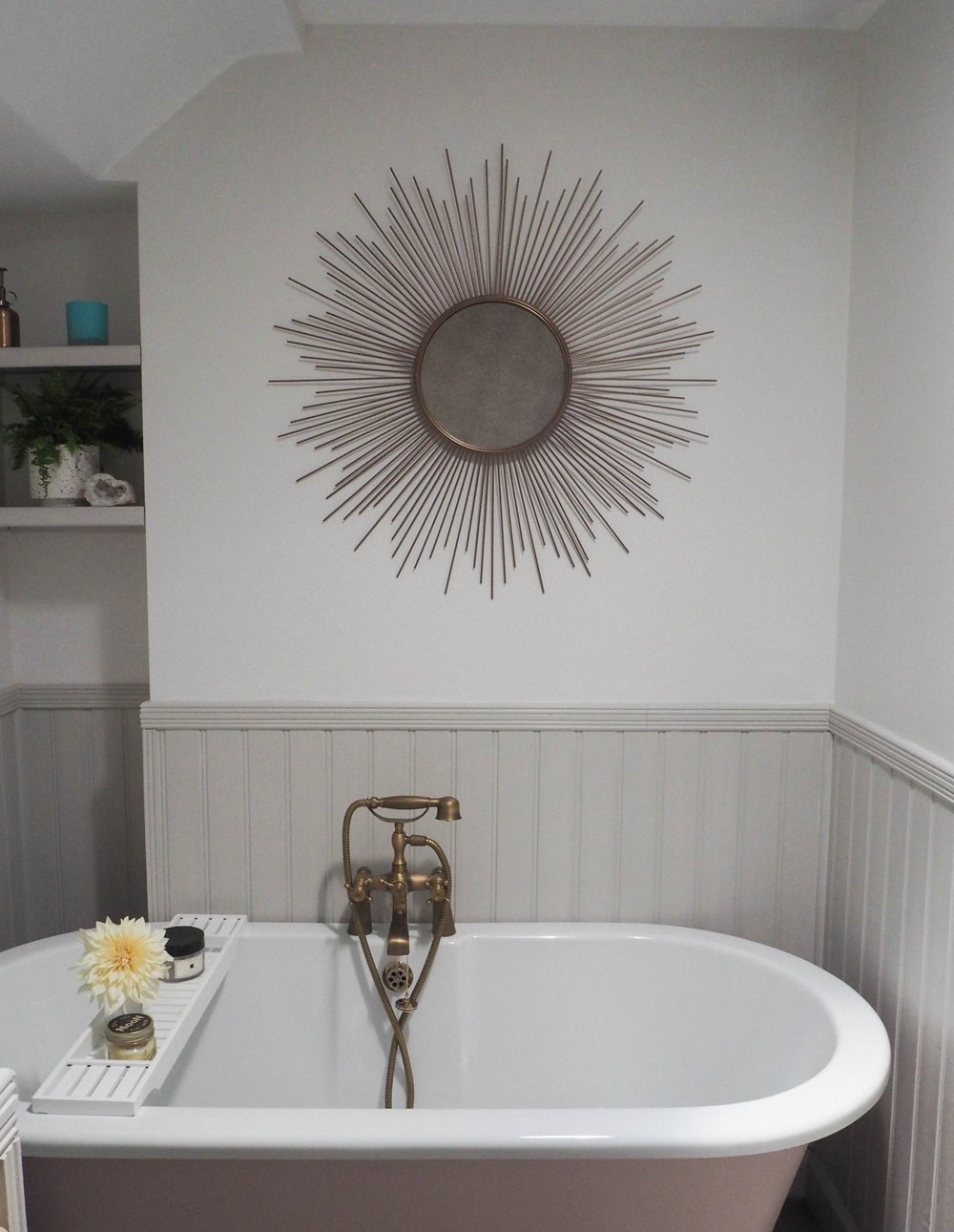 Bathroom Mirror Sunburst Brass Bath Renovation