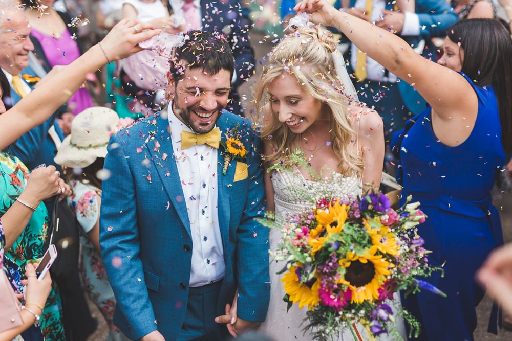 Confetti Bedfordshire Farm Wedding Milkbottle Photography
