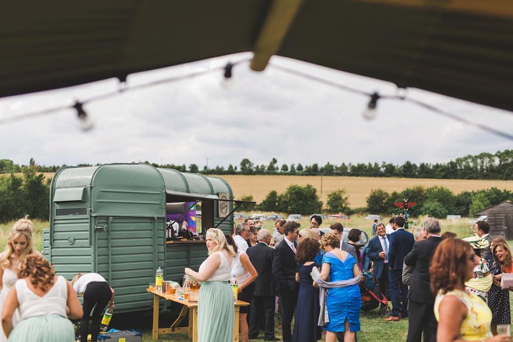 Horse Box Bar Bedfordshire Farm Wedding Milkbottle Photography