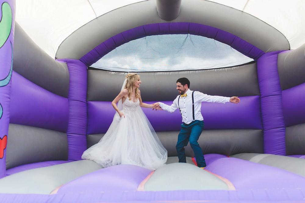 Bouncy Castle Bedfordshire Farm Wedding Milkbottle Photography