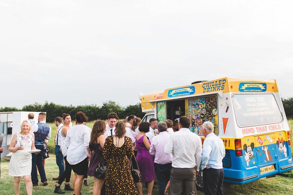 Ice Cream Van Truck Bedfordshire Farm Wedding Milkbottle Photography