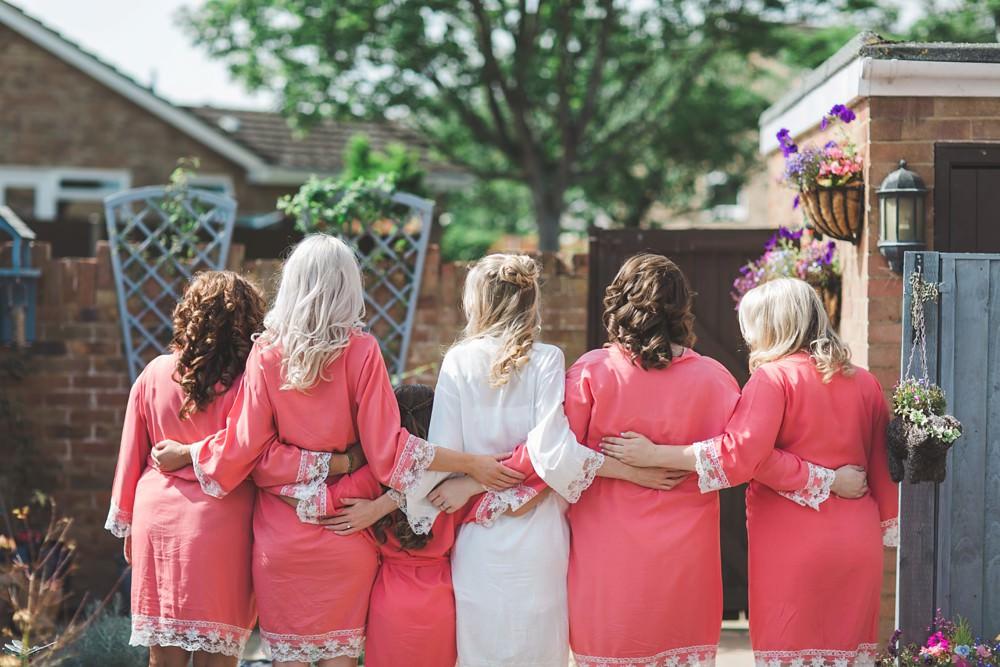 Bride Bridal Bridesmaids Dressing Gowns Robes Bedfordshire Farm Wedding Milkbottle Photography