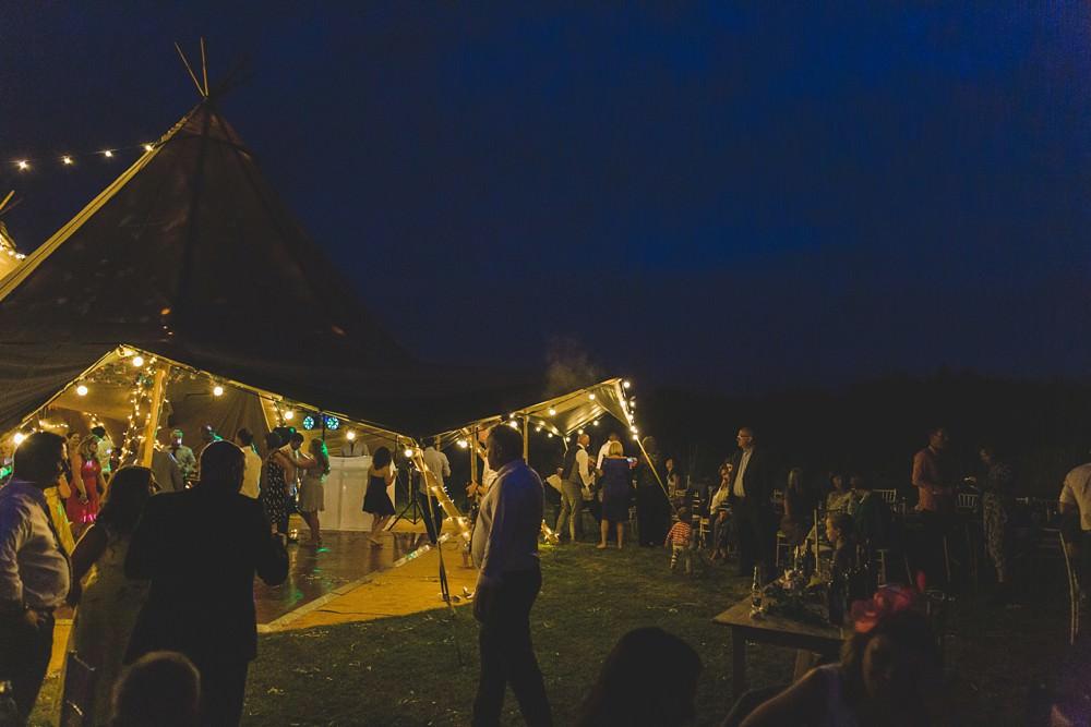 Tipi Lighting Fairy Lights Bedfordshire Farm Wedding Milkbottle Photography