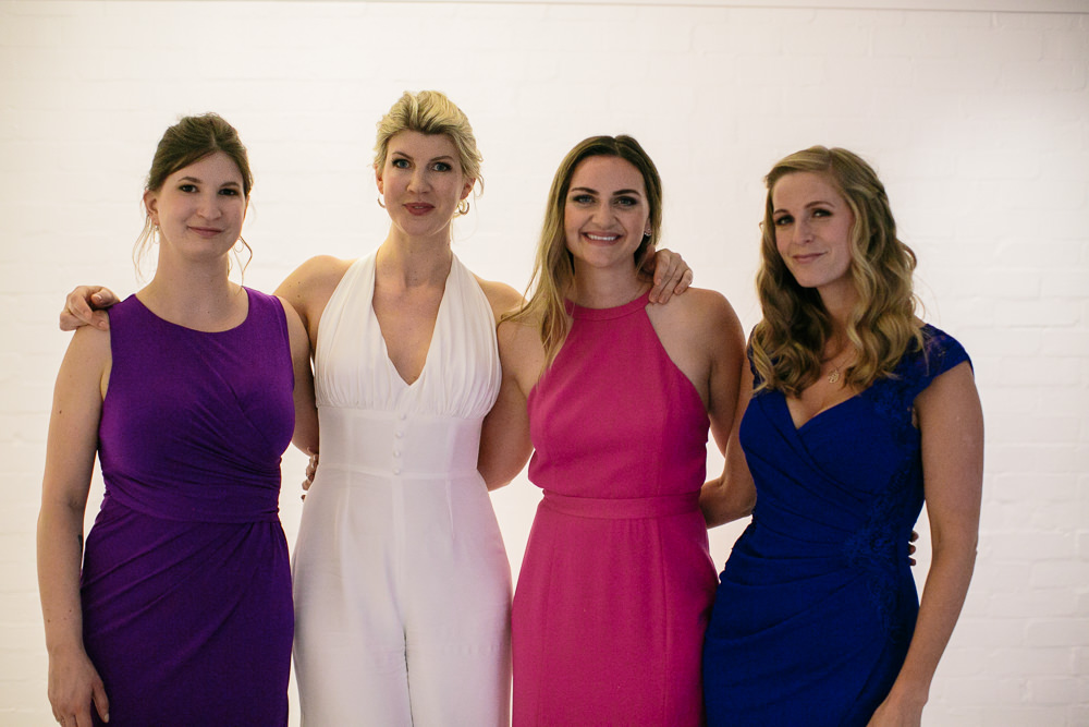 Bridesmaid Dress Dresses Bridesmaids Purple Pink Bridal Jumpsuit Wedding Emily Jarrett Photography
