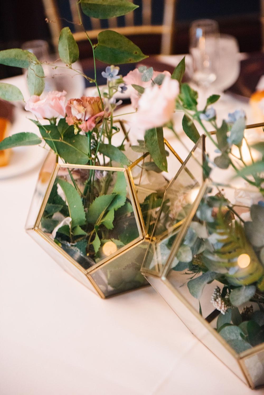 Terrarium Flowers Centrepiece Decor Table Decoration Brooklyn Elopement Everly Studios