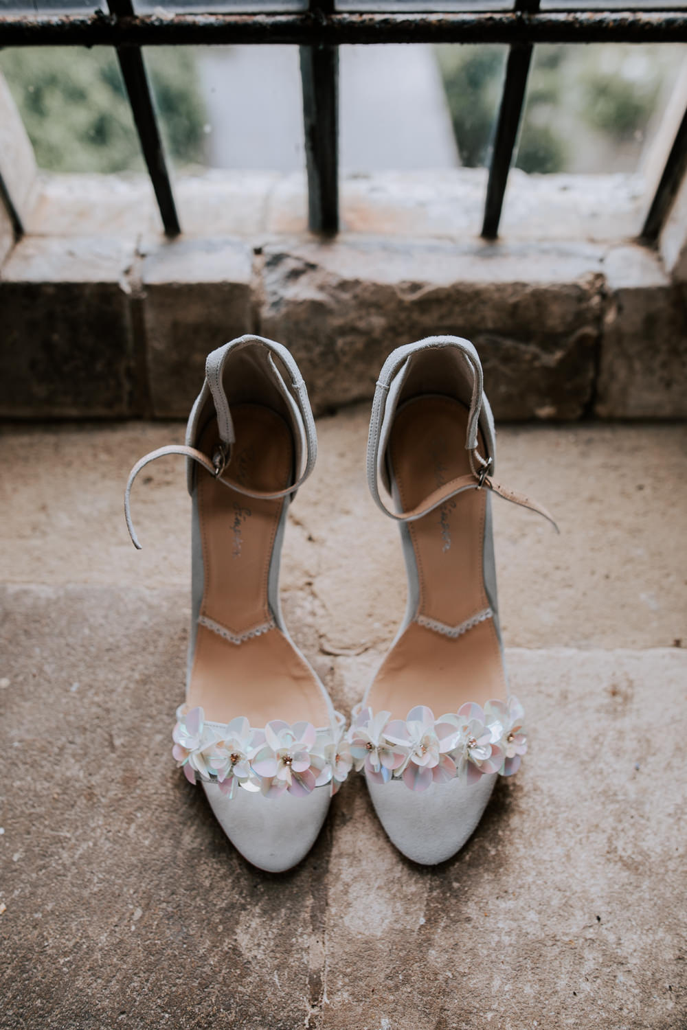 Shoes Bride Bridal Floral Flower Butley Priory Wedding Sally Rawlins Photography