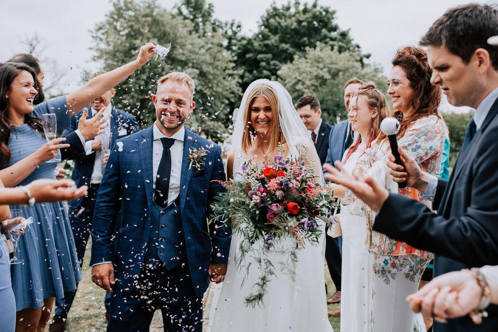Confetti Butley Priory Wedding Sally Rawlins Photography