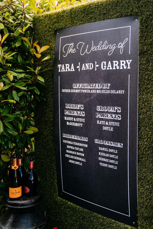 Welcome Sign Greenery Wall Chalk Board Carousel Wedding Sarah Legge Photography