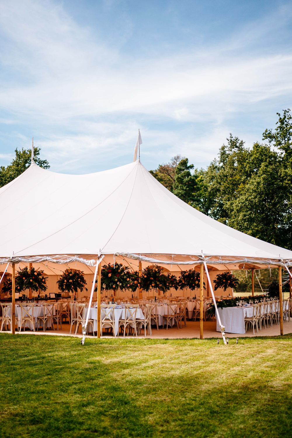 Sperry Tent Marquee Florals Carousel Wedding Sarah Legge Photography