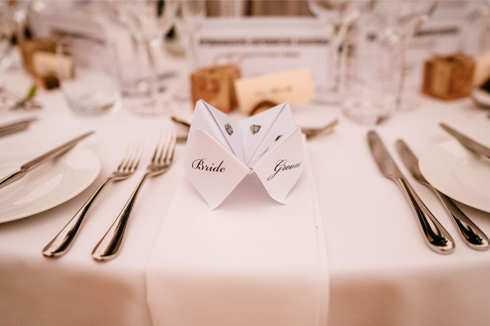 Fortune Teller Table Setting Place Carousel Wedding Sarah Legge Photography