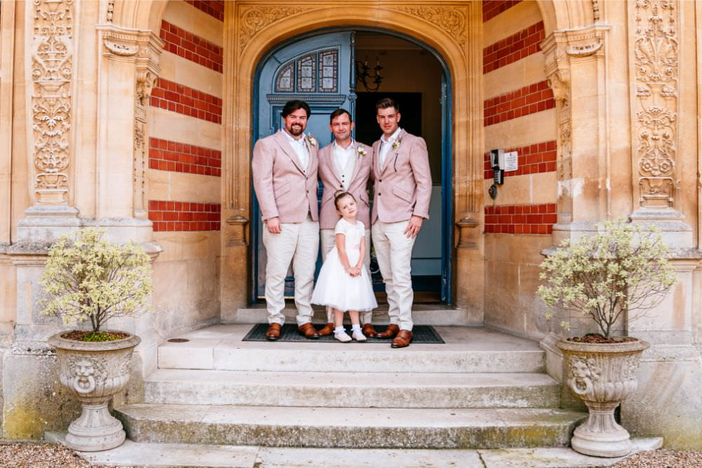 Pink Jacket Chino Suit Groom Flower Girl Carousel Wedding Sarah Legge Photography
