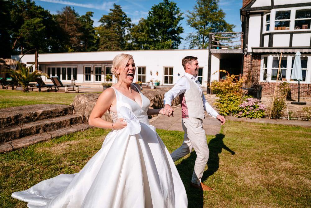 Bride Bridal V Neck Justin Alexander Dress Gown A Line Waistcoat Chinos Groom Carousel Wedding Sarah Legge Photography