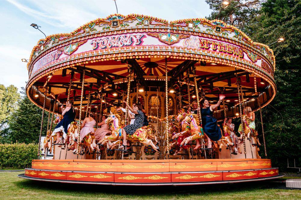 Fairground Funfair Carousel Wedding Sarah Legge Photography