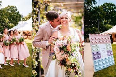 Whimsical & Fun Garden Party Wedding with a Carousel Ride
