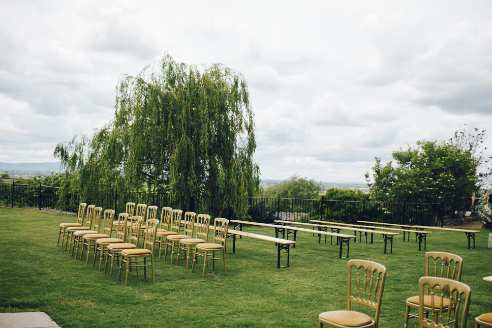 Outdoor Ceremony Seating Deer Park Hall Wedding Curious Rose Photography