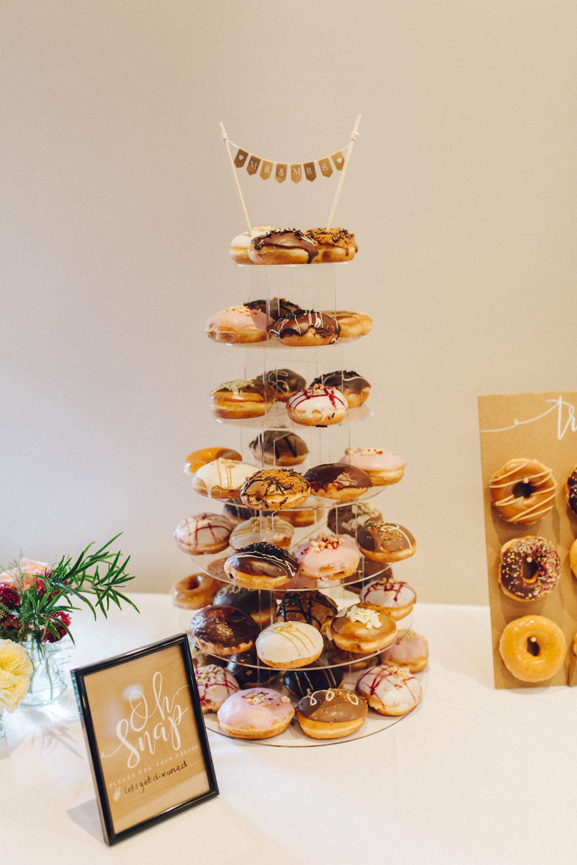 Doughnut Donut Tower Cake Deer Park Hall Wedding Curious Rose Photography