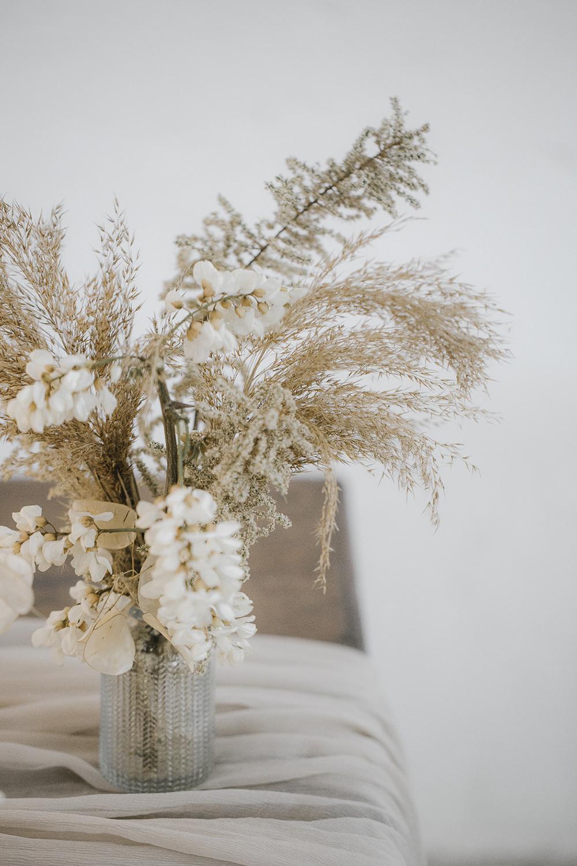 Pampas Grass Dried Flowers Centrepiece Bottle Vase Ethereal Artistic Wedding Ideas Francesca Francesca
