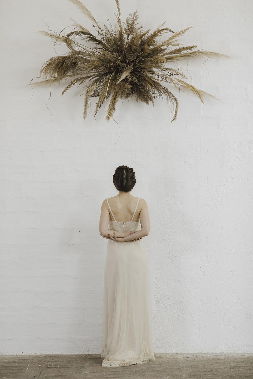 Lace Dress Gown Bride Bridal Modern Slip Sara Concept Bride Ethereal Artistic Wedding Ideas Francesca Francesca