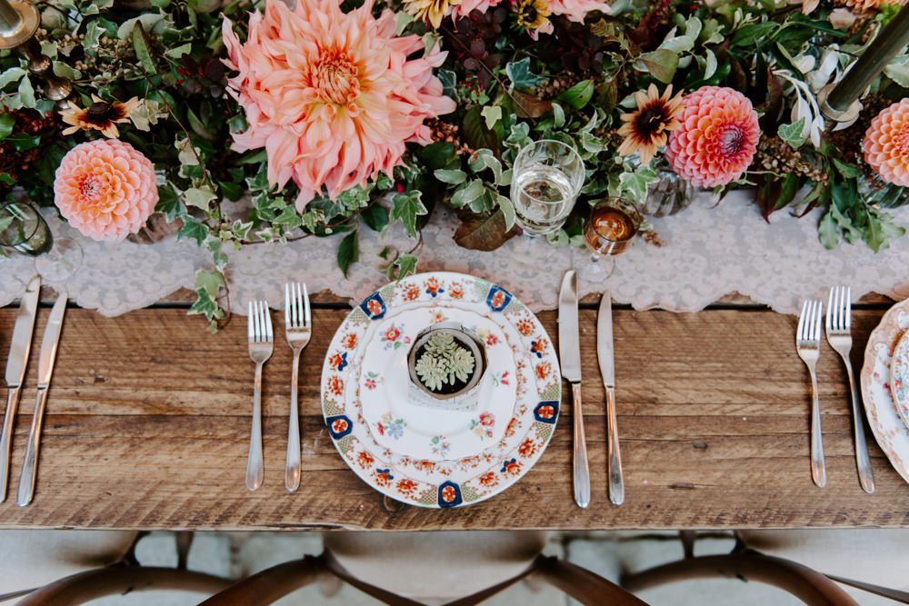 Place Setting Decor Plate Ethical Wedding Ideas Sadie Osborne Photography