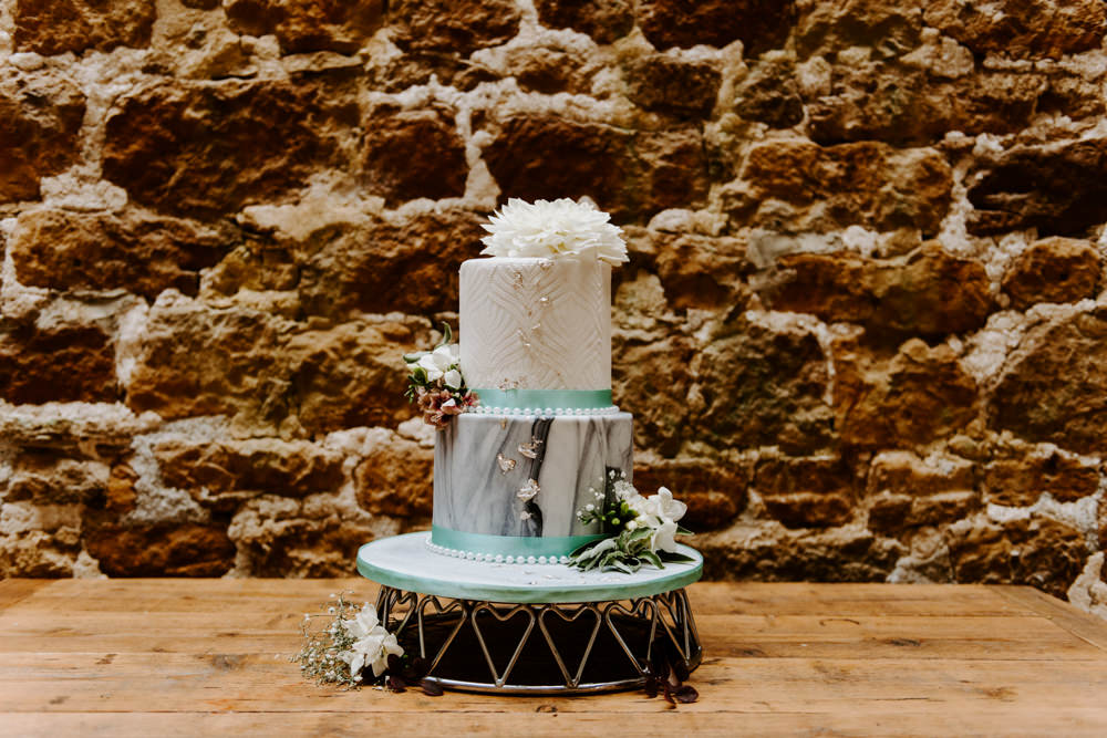 Cake Marble Dahlia Ethical Wedding Ideas Sadie Osborne Photography