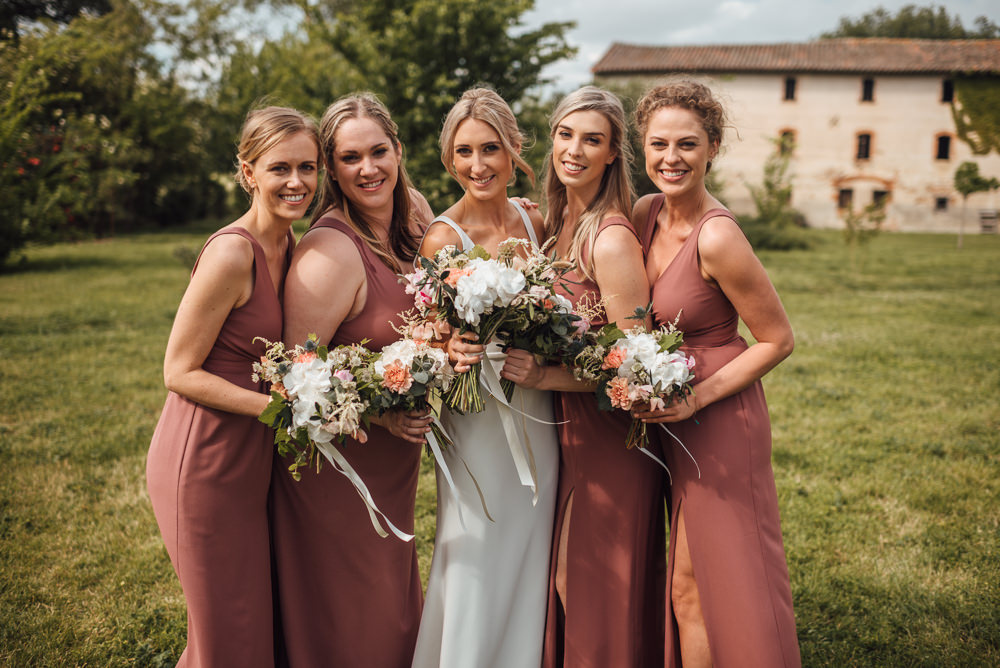 Bridesmaids Bridesmaid Dress Dresses Dusky Pink France Destination Wedding The Shannons Photography