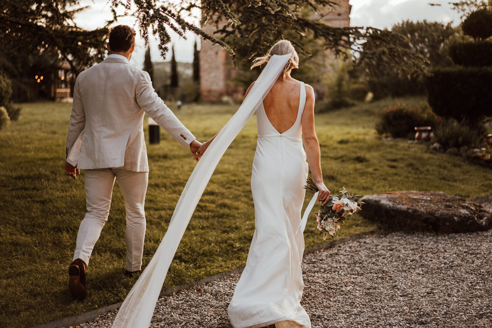 Bride Bridal Dress Gown Oui Sleek Simple Lace Veil France Destination Wedding The Shannons Photography