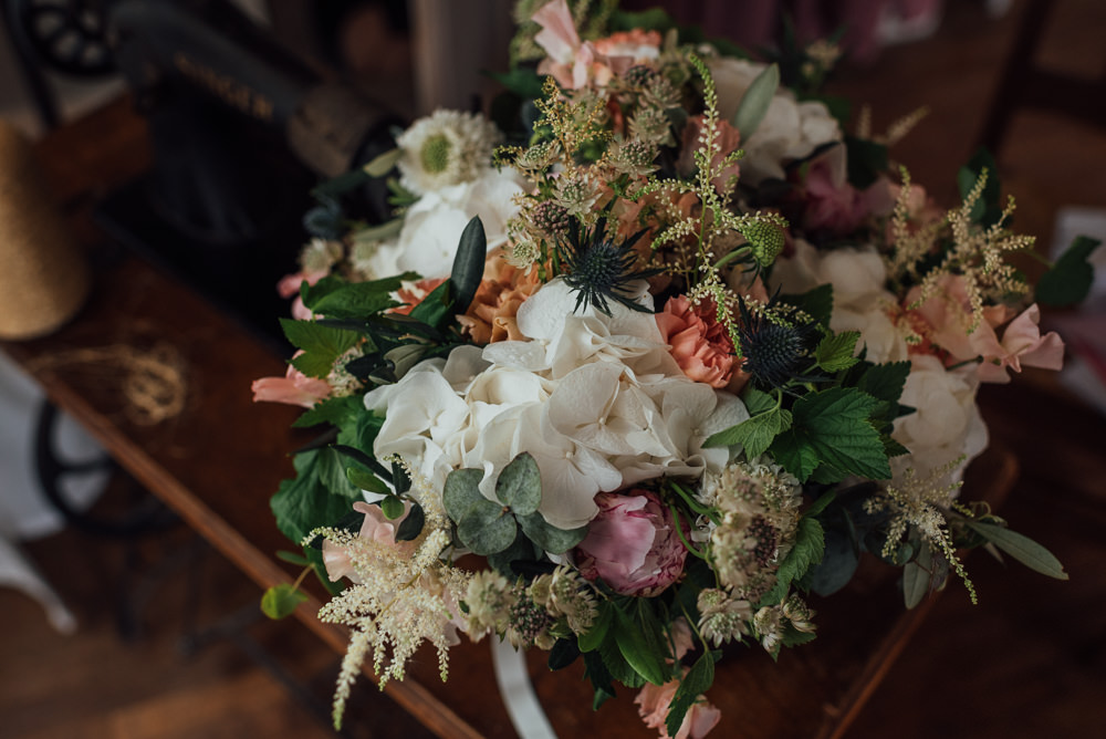 Bouquet Flowers Bride Bridal Hydrangea Astilbe France Destination Wedding The Shannons Photography