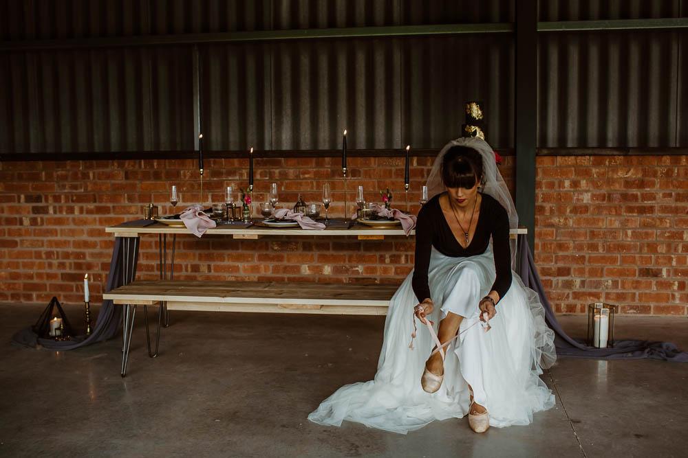 Bride Bridal Ballet Top Shirt Shoes Giraffe Shed Wedding When Charlie Met Hannah