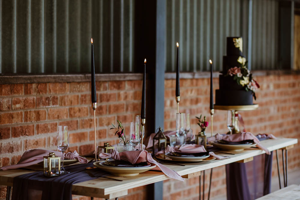 Tablescape Decor Table Silk Candles Pink Purple Decoration Giraffe Shed Wedding When Charlie Met Hannah