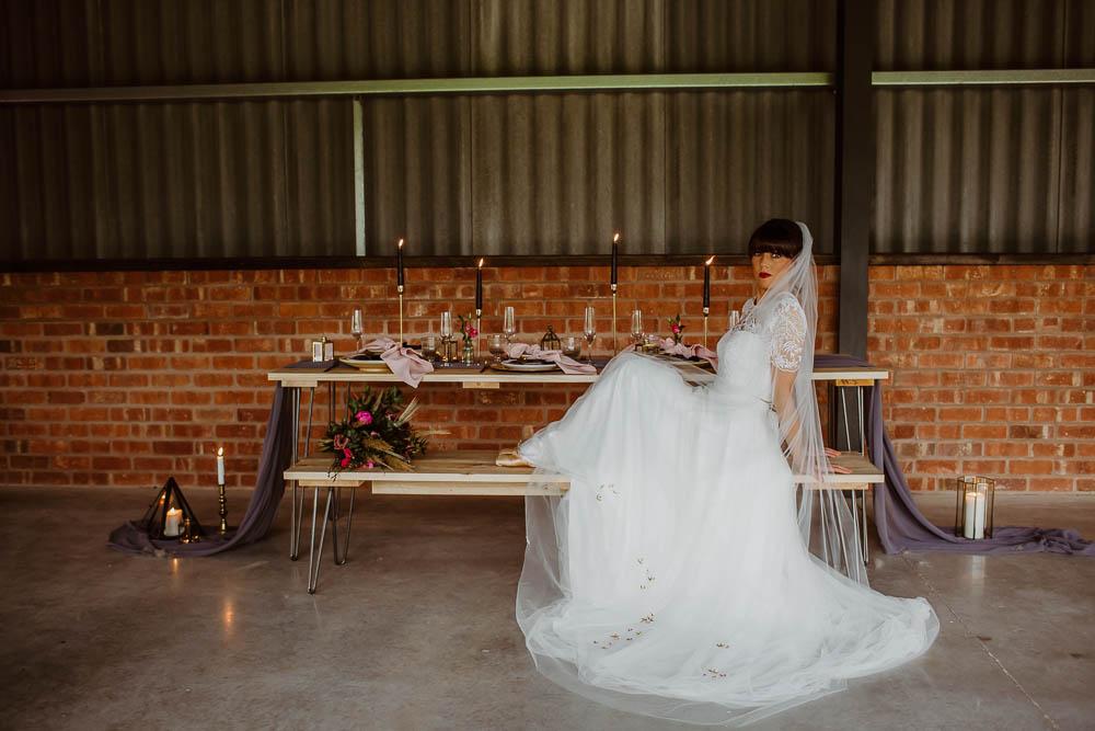 Bride Bridal Dress Gown Tulle Giraffe Shed Wedding When Charlie Met Hannah