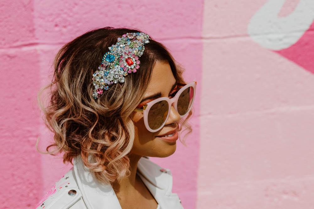 Bride Bridal Sunglasses Headband Hairpiece Giraffe Shed Wedding When Charlie Met Hannah