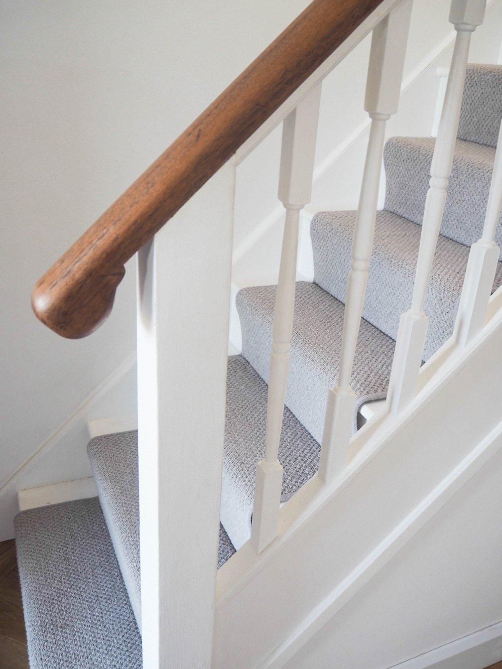 Hallway Renovation 1930s Stairs Stair Runner Carpet Grey Wool