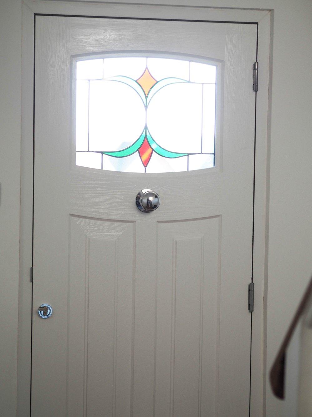 Hallway Renovation 1930s Front Door Rockdoor Newark Black Stained White Composite