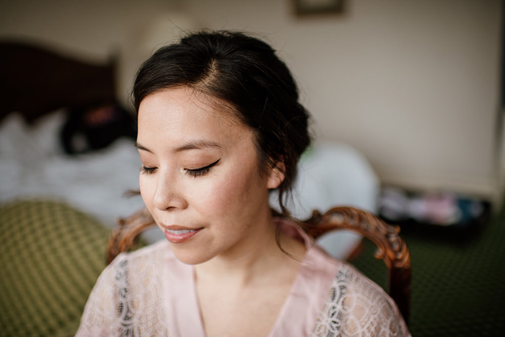 Bride Bridal Make Up Eyeliner Flick Henry Moore Wedding Ellie Gillard Photography