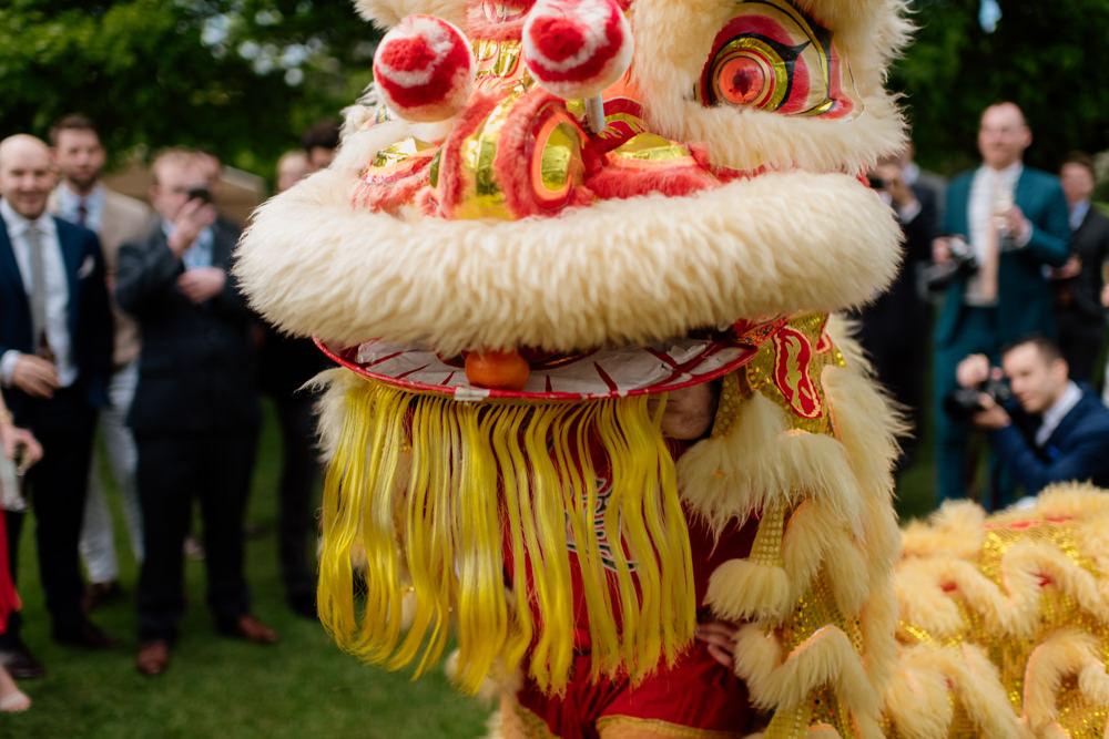 Chinese Lion Dance Henry Moore Wedding Ellie Gillard Photography