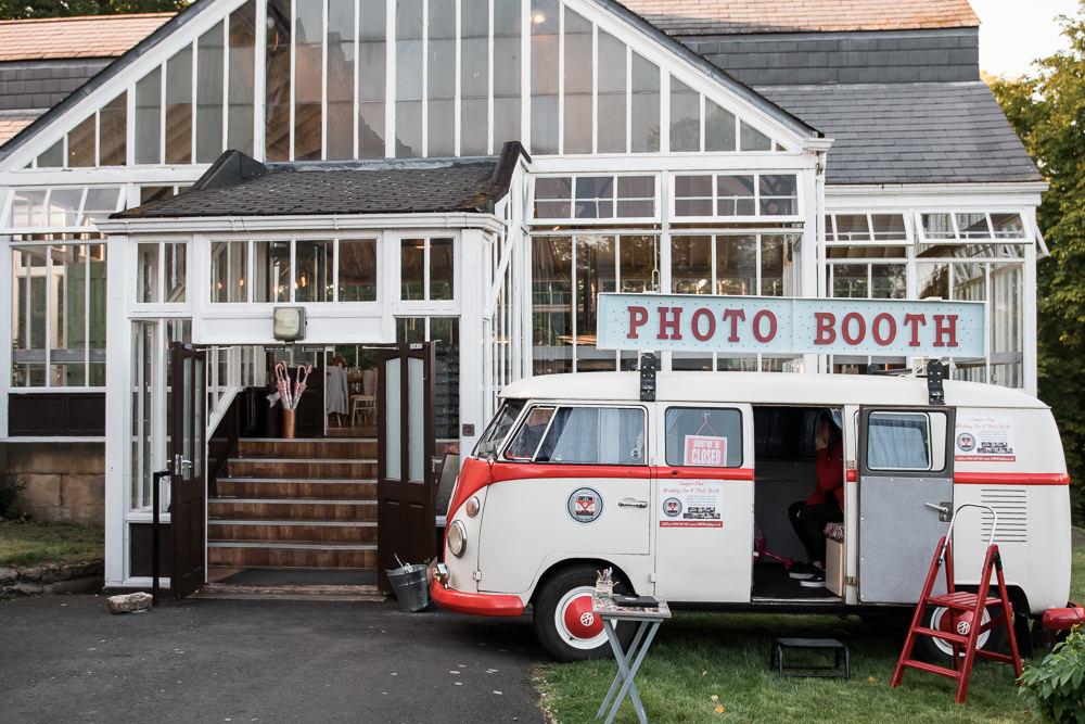 VW Camper Van Photo Booth Vintage Hexham Winter Gardens Wedding Leighton Bainbridge Photography