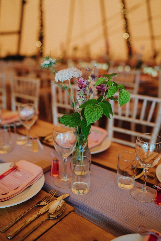 Wildflower Bottle Flower Florals High Barn Wedding Edenhall Bloom Weddings