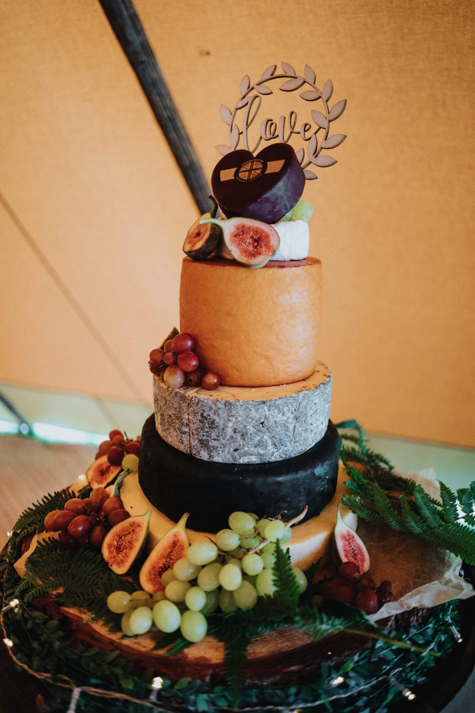 Cheese Tower Cake Wooden Laser Cut Topper High Barn Wedding Edenhall Bloom Weddings