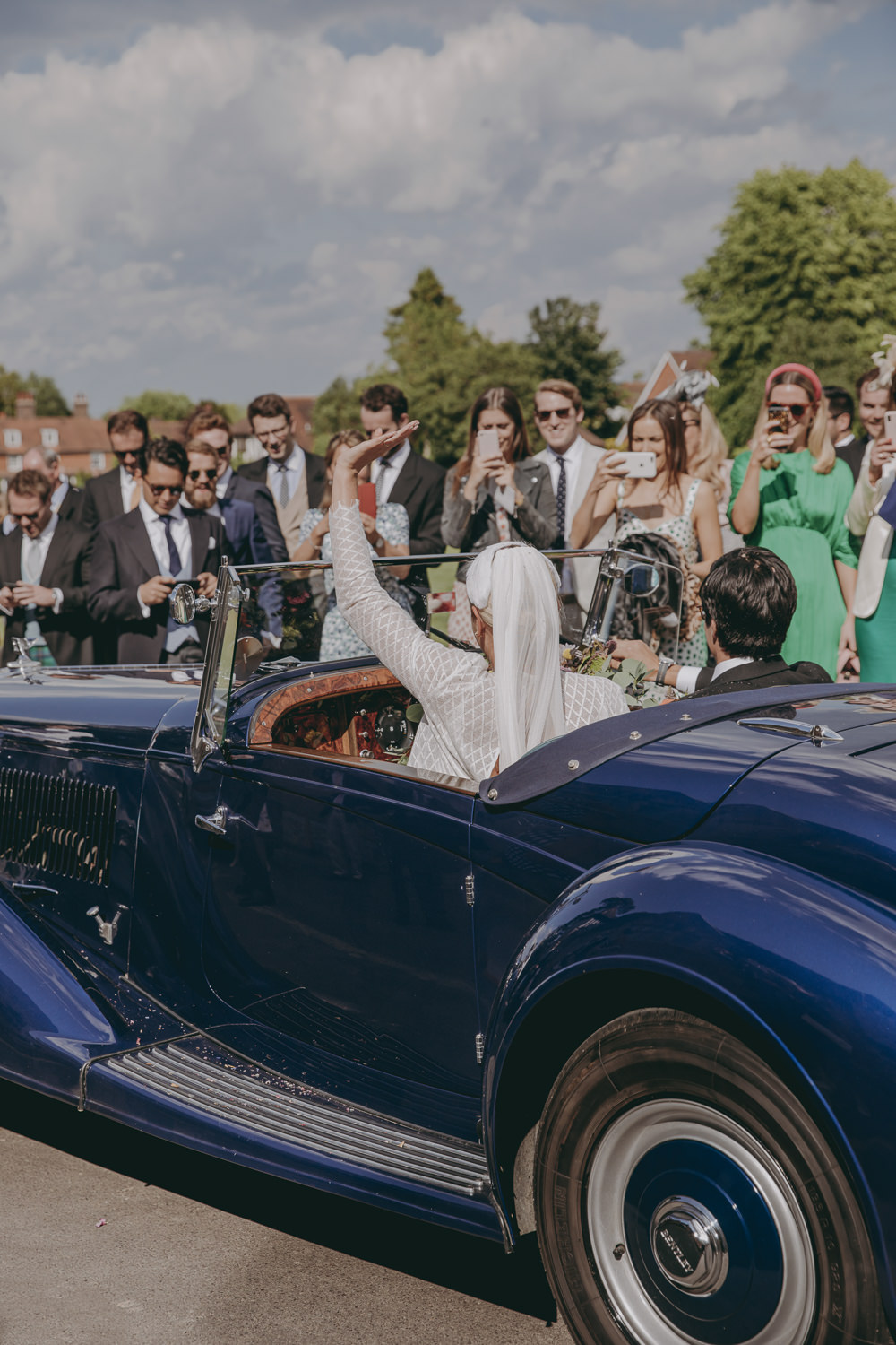 Classic Car Transport Kent Marquee Wedding Lily Bungay and Co